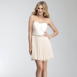 New with tags! Bebe strapless pleated dress